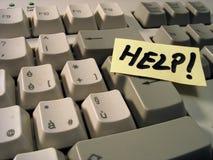 Ajuda do teclado fotos de stock