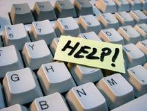 Ajuda do teclado fotografia de stock