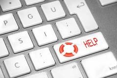 Ajuda do teclado Imagens de Stock Royalty Free