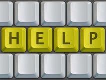 Ajuda do teclado Fotos de Stock Royalty Free