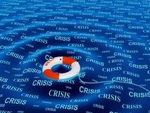 Ajuda em uma situação de crise ilustração royalty free