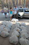 Ajuda humanitária Foto de Stock Royalty Free