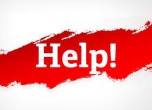 Ajuda! Ilustração vermelha do fundo do sumário da escova ilustração royalty free