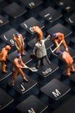 Ajuda, sustentação da tecnologia Imagens de Stock