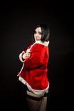 Ajudante bonito de Santa fotografia de stock