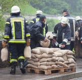 Ajudante da água da enchente em Alemanha Imagens de Stock