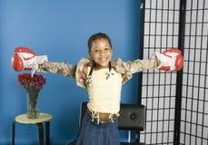 Ajudante de Santa de sorriso Fotos de Stock Royalty Free