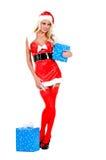 Ajudante do Natal Fotografia de Stock