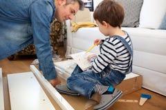 Ajudante pequeno de Carpenter's Imagem de Stock Royalty Free
