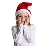 Ajudante pequeno de Santa Fotografia de Stock Royalty Free