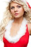 Ajudante sedutor de Santa Imagem de Stock Royalty Free