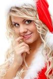 Ajudante sedutor de Santa fotografia de stock