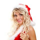 Ajudante sedutor de Santa fotos de stock royalty free