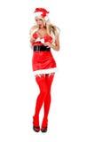Ajudante sensual do ajudante do Natal Imagens de Stock Royalty Free