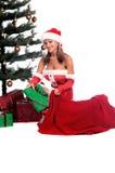 Ajudante 'sexy' de Santa foto de stock royalty free