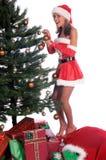 Ajudante 'sexy' de Santa Foto de Stock