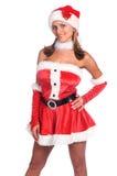 Ajudante 'sexy' de Santa Fotos de Stock