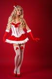 Ajudante 'sexy' de Santa fotografia de stock royalty free