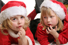 Ajudantes de Santa imagens de stock