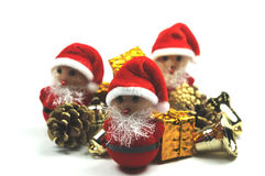 Ajudantes pequenos de Papai Noel Imagens de Stock