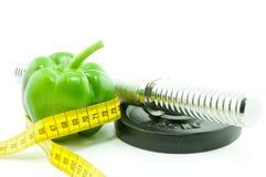 Ajudas saudáveis comer e de exercício para perder o peso Fotos de Stock Royalty Free
