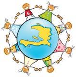 Ajude as crianças de Haiti Imagem de Stock