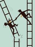 Ajude e sobreviva no negócio Imagem de Stock Royalty Free