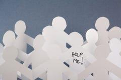 Ajude-me os povos de papel Imagem de Stock
