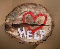 Ajude a proteger a natureza, pare o desflorestamento. Imagem de Stock Royalty Free