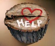 Ajude a proteger a natureza, pare o desflorestamento. Foto de Stock Royalty Free