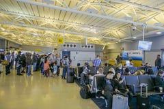 Ajuntamento em Dallas Fort Worth Airport DALLAS - TEXAS - 10 de abril de 2017 Imagens de Stock