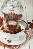 Ajusta el brownie Fotos de archivo