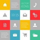 Ajusta infographics del fondo con los iconos del vector Fotos de archivo