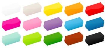 Ajustado da diagonal colorida da etiqueta de quinze preços ilustração do vetor