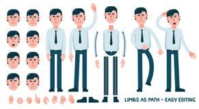 Ajustado para projetar um caráter do trabalhador de escritório ilustração royalty free
