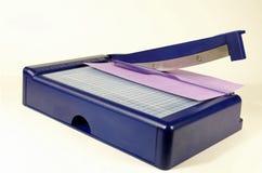 Ajustador de papel fotografia de stock