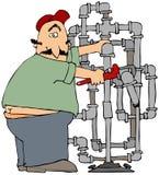Ajustador de tubulação ilustração royalty free