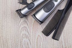 Ajustador do cabelo com pente imagem de stock royalty free