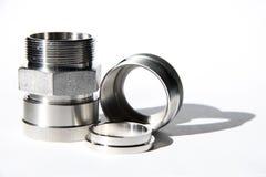 Ajustage de précision d'acier inoxydable Photographie stock