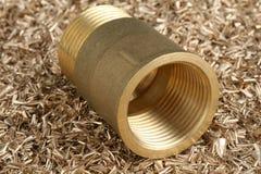 Ajustage de précision de pipe fileté photos stock
