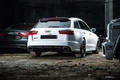 Ajustamento branco de Audi RS6 Imagens de Stock