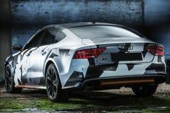 Ajustamento de Audi S7 Fotografia de Stock