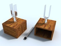 Ajustamento de dois laboratórios - forquilhas Foto de Stock Royalty Free