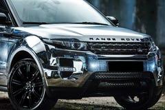 Ajustamento de Range Rover EVOQUE Foto de Stock