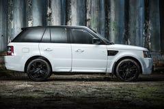 Ajustamento de Rover Sport da escala Foto de Stock
