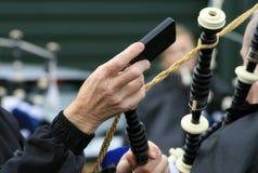 Ajustamento do Bagpipe Fotografia de Stock
