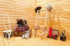 Ajustar-projete e a estágio-propriedade de um photographi Foto de Stock