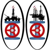 Ajuste ícones da indústria do gás ilustração stock