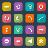 Ajuste ícones da seta, tendência lisa do projeto de UI, ilustração do vetor de elementos do design web Imagens de Stock