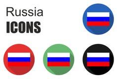 Ajuste ícones de Rússia Foto de Stock